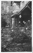 Real Photo Postcard Rose Tree Tea House in Pasadena, California~110692