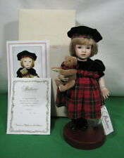"Paulinettes Christina Scottish Porcelain Doll 8"" Tall Pauline Bjonness Jacobsen"