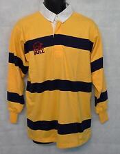 "Raging Bull Mens Stripe Long Sleeve Polo Shirt Top Size  40"" Chest Medium #2325"