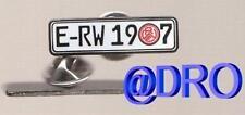 PIN + Rot Weiss Essen + Motiv Nummernschild + E-RW 1907 + 3,0x0,8 cm + Neuware