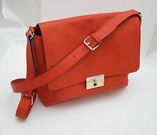 TILA MARCH Coral Orange Leather Shoulder Bag NEW + dustbag