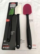 New Oxo Good Grips 3 Piece Silicone Spatula Set