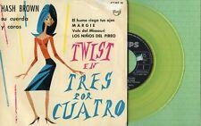 HASH BROWN / Twist ... / PHILIPS 452 012 BE Pressing Spain 1962 EP Yellow Vinyl