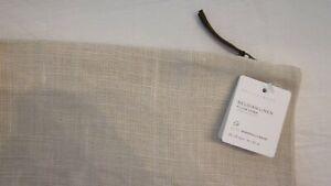 "Pottery Barn Belgian Libeco Linen Pillow Cover 24"" Bone / Tan 11411195 NWT"