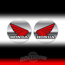 2 adesivi HONDA ALI stickers moto 14 - tre colori rosso nero cromato - PVC