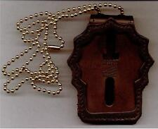 New Rochelle Police (NY) Detective's Badge Cut-Out Neck Hanger/Belt Clip Combo