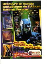 Une publicité des années 1990 pour Batman Forever – Album sticker -Merlin collec