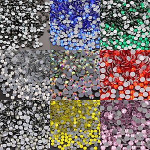 Crystal AB Rhinestones Glass Hotfix Iron On Strass Sewing & Fabric Decoretion