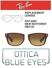 Lenti di Ricambio RAYBAN NEW WAYFARER RB2132 Replacement Lenses Ray Ban BROWN 85