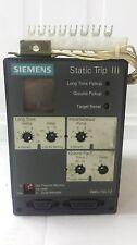 Siemens Static Trip III RMS-TIG-TZ Trip Unit