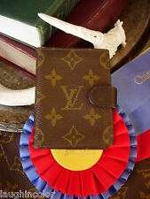 Rare Vintage Louis Vuitton Small Agenda Notebook Cover Portfolio Card Wallet Lv