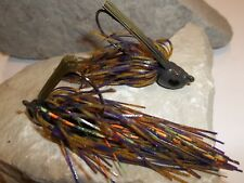 TWO 1/2 oz Poison Tail Jigs ***WHISKEY PURPLE FIRE TIGER 55+ STRANDS ***