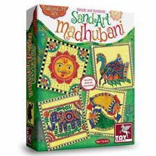 Symbolic Sand Art Kit Madhubani 8 sachets Simple Art for Kids
