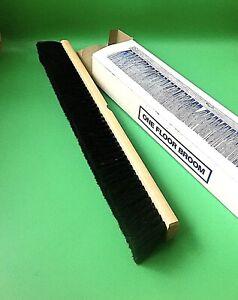 """24"""" PUSH BROOM HEAD (Pre-Drilled) Black Brush Clean Floor KEIFER"""