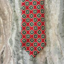 POLO Ralph Lauren Debonaire Medallion Paisley Red Mens Silk Neck Tie Necktie