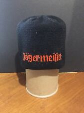 "Jagermeister German  scull cap, black with organge letters 10""x 7.5"""