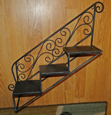 AWESOME DECORATIVE METAL STAIRCASE WALL SHELVES!!