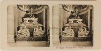 Italia Roma Vaticano Basilique Sant'Pierre Mausoleo c1905 Foto Stereo Vintage