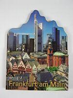 Frankfurt Skyline Hessen Germany,2D Holz Magnet,Souvenir Deutschland