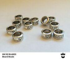beard beads 6x UK DE BLADES (oil wax gift balm Birthday mens beads metal A7