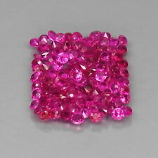 Round 1.5 to 1.7 mm.Rare Thailand Top Pinkish Red Ruby (No Glass) 108Pcs/3.00Ct.