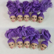 Wholesale genuine 1/6 Greece Face blue Hair Barbie Terasa doll heads 10pcs/lot