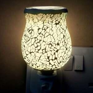 IEP Sense Aroma White Glow Crackle Tulip Mosaic Wax Warmer L-7121
