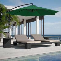 10' Patio Offset Hanging Umbrella Large Outdoor Garden Pool Market Sun Shade New