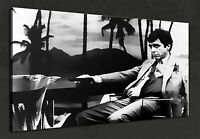 SCARFACE TONY MONTANA B&W FILM WALL ART CANVAS PRINT PICTURE READY TO HANG