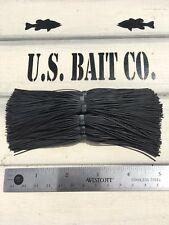 Bass Jig Skirts Living Rubber Lot Of 10 Color Solid Black