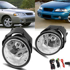 for 00-01 Nissan Maxima / 00-03 Sentra Clear Fog Light Front Bumper Lamps+Wiring