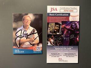 Jack Nicklaus Autographed Golf Card JSA COA
