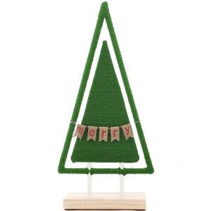 "St. Nicholas Square® Yarn ""Merry"" Christmas Tree Floor Holiday Decor NEW"