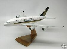 A-380 Singapore Air Airbus A380 Airplane Wood Model Free Shipping Large New