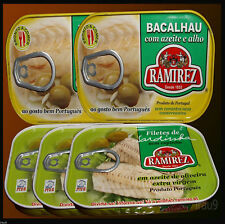 5 Cans 2 Bacalhau Cod Fish 3 Sardines Fillets Olive Oil & Extra Virgin Portugal