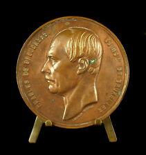 Médaille Charles de Brouckère bourgmestre de Bruxelles Léopold Wiener 1860 Medal