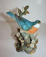Masterpiece Porcelain Blue Bird Figurine Homco 1984