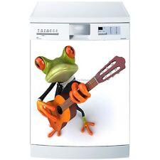 Magnet lave vaisselle Grenouille et guitare 60x60cm réf 560 560