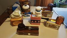 AVON LOT OF 6 PIPE BOTTLES ALL FULL AND IN BOXES