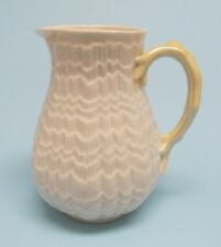 Irish Belleek Tridacna Yellow Pitcher ~ Green Mark