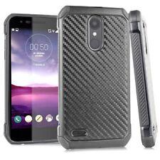 for LG Aristo 2 X210 /tribute Dynasty Carbon Fiber Hybrid Rubber Skin Case Cover