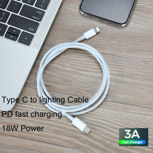 18W 3A PD Type C to Lighting Fast Charging Cable 18W for X/XR/MAX 8 Macbook