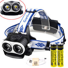 40000LM 2 x T6 Zoomable LED Headlamp USB Rechargeable 18650 Headlight