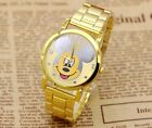 MICKEY MINNIE MOUSE golden steel watch quality A2127