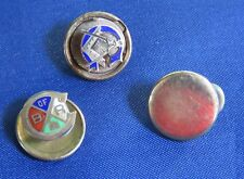 Lot of 3 Vintage Masonic Twist and Clip Tie Tacks
