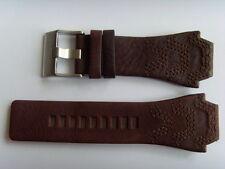 DIESEL Original Ersatzband Lederarmband DZ1267 Uhrband braun 24 mm brown