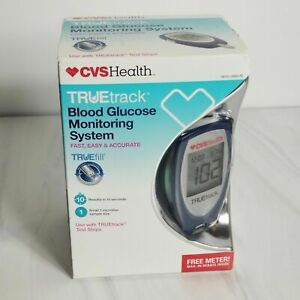 CVS Health TRUEtrack Blood Glucose Monitoring System Blood Sugar Tester, NEW