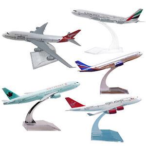 16cm Metal Diecast Plane Model Aircraft Boeing Airlines Aeroplane Desktop Toys