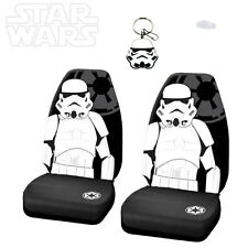 3PC STAR WARS STORMTROOPER CAR SEAT COVER WITH KEYCHAIN SET FOR NISSAN