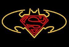 """New Superman VS Batman Beer Pub Bar Neon Light Sign 24""""x20"""""""